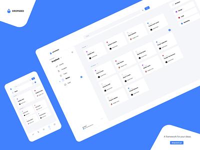DropSeed - Notes Feature build project create design work in progress desktop app mobile app layout grid dashboad platform dropseed flat notes ui app