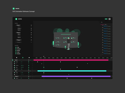 Gmotion - UI Monday #1 animator software webapp flat build project fun concept dark creativity design animation svg monday ui