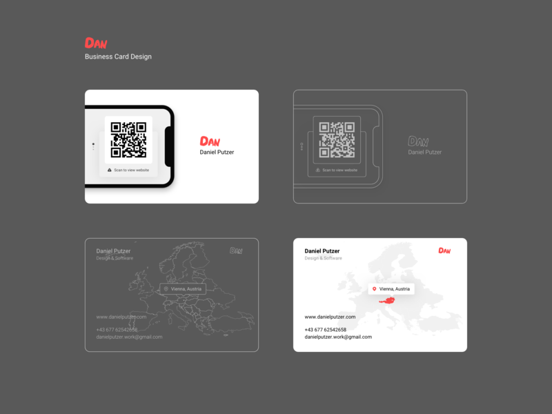 Dan - Business Card Design print design clean flat wireframe personal brand sketch print business card