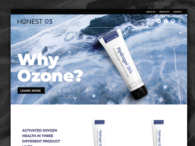 Skincare Website products web design beauty