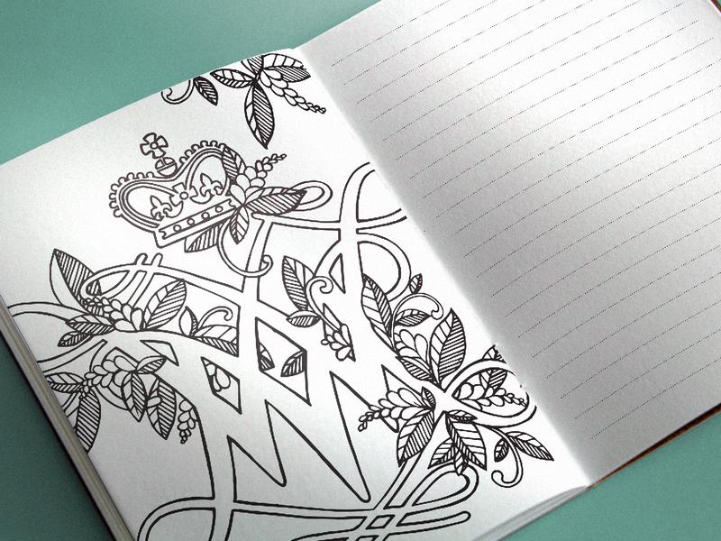 Coloring Journal Illustration campus design illustration