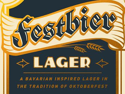 Festbier typography bier oktoberfest lager european blackletter package design packaging design german craft beer beer