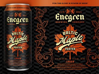 Enegren - Baltic Maple Porter fall maple leaf german metallic copper maple package design can packaging craft beer beer