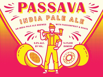 Passava IPA - Reuben's Brews + Great Notion lumberjack passionfruit guava ipa package design can packaging craft beer beer