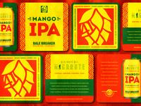 Mango IPA Coasters - Bale Breaker