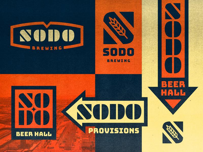SODO Brewing industrial signage branding logo sodo brewery craft beer beer