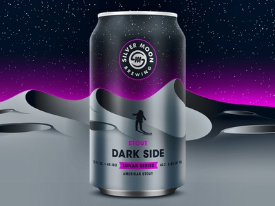Dark Side Stout - Silver Moon starwars stars purple moon space stout gradient brewery can package design packaging craft beer beer