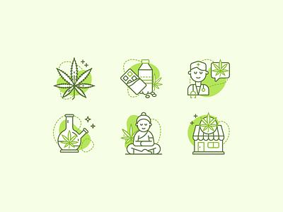 Medical Marijuana icon set adobe illustrator line medical marijuana cannabis weed medical marijuana vector icons