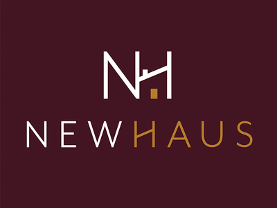 NewHaus Property Sales & Lettings Logo house property logo design