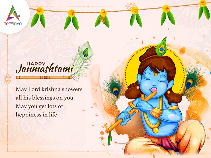Appsinvo Wishes for Happy Janmashtami!!