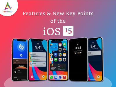 Appsinvo - Features & New Key Points of the iOS 15 graphic design animation