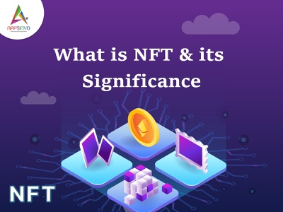 Appsinvo - What is NFT & its Significance 3d logo animation branding graphic design