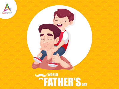 Appsinvo Wishes For Happy father's day branding graphic design motion graphics