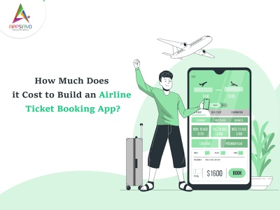 Appsinvo : How Much Does it Cost to Build an Airline Ticket Book ui 3d branding animation