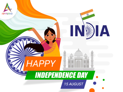 Appsinvo Wishes For Happy Independence Day branding 3d motion graphics animation