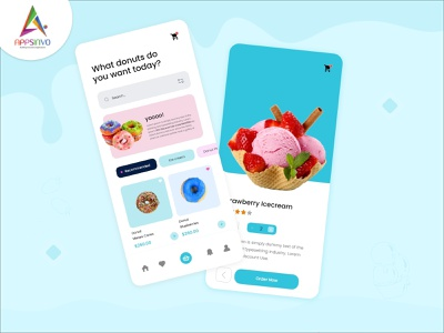 Donuts Mobile Apps donuts cooldesigns mobileapps iphone ui illustration design motion graphics graphic design android branding animation appsinvo