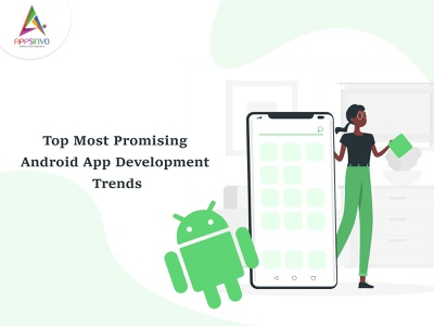 Appsinvo || Top Most Promising Android App Development Trends ui 3d branding animation