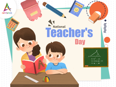 Appsinvo Wishes for Happy Teachers' Day 2021! 3d branding motion graphics logo animation