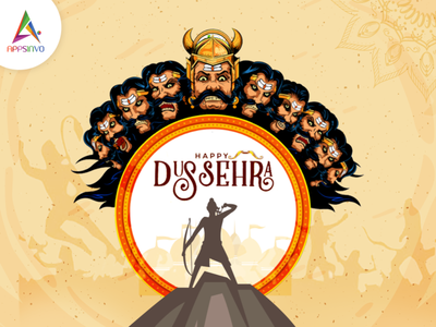 Wish you and your loved ones a very Happy Dussehra! 3d graphic design logo motion graphics animation