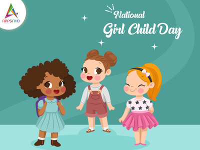 Appsinvo Wishes for National Girl Child Day