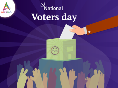 Appsinvo Wishes for National Voters' Day 2020