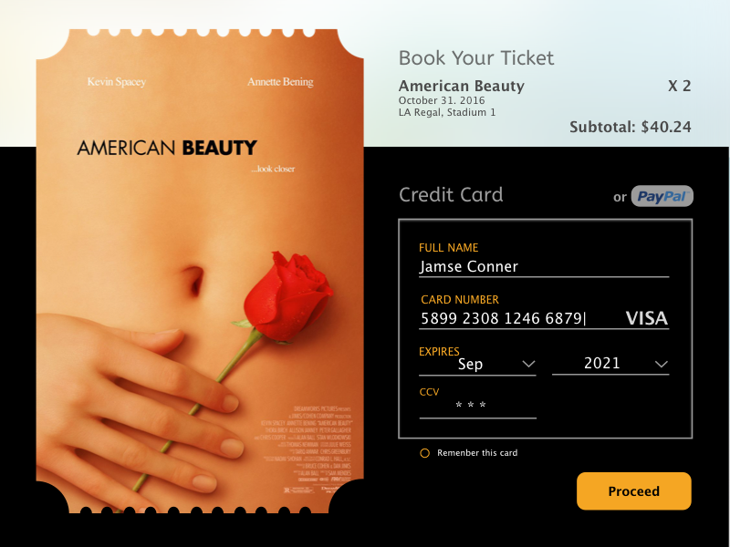 Daily Challenge 02 - Credit Card design san jose credit card daily ui ux challenge