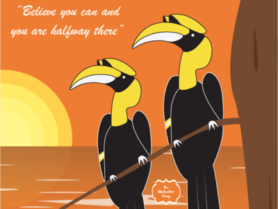 Hornbills wiro a5 notebooks birds hornbills creative  design design theillustrationdiary illustration