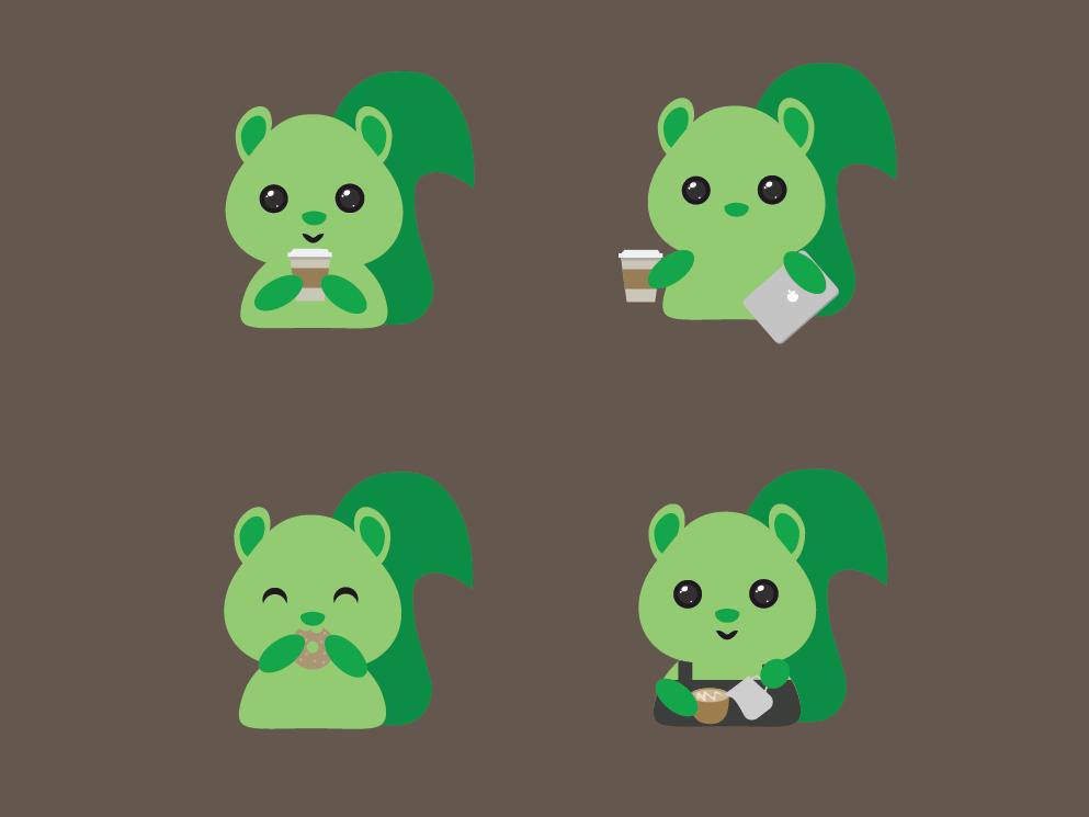 Coffee Shop Mascot mascot character design illustration