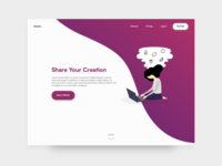 Daily UI Challenge 003 :: Landing Page