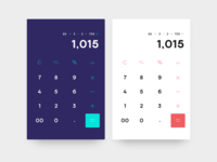 Daily UI Challenge 004:: Calculator