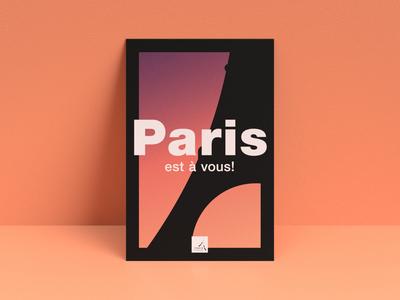Paris Poster illustration print graphic design minimalist poster design poster paris