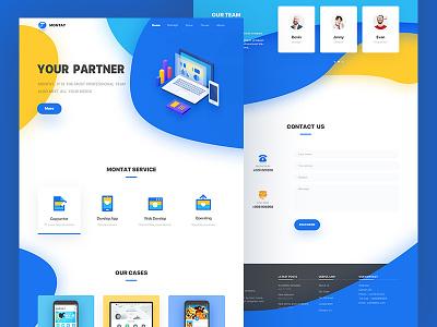 MontanWeb web net illustration home design color blue