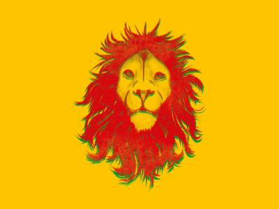 The pride of Africa design illustration 3d yellow black lives matter blm ethiopia lion pride color africa
