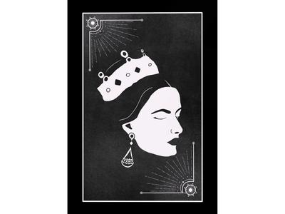 Queen Tarot Doodle