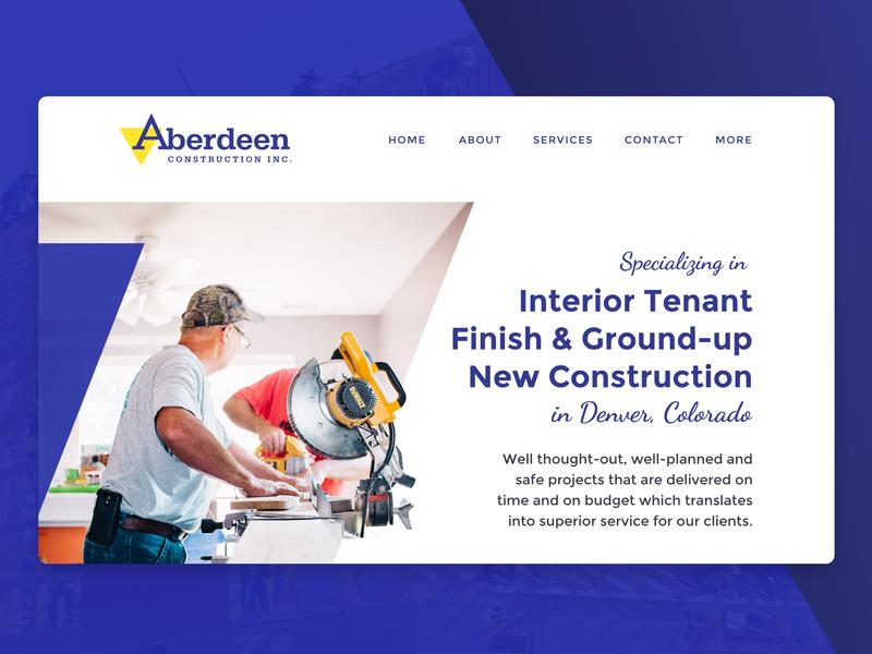Aberdeen Design Proposal ui design web design