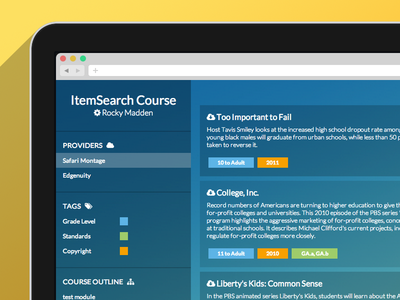 Educational Digital Content Search - Single Page App