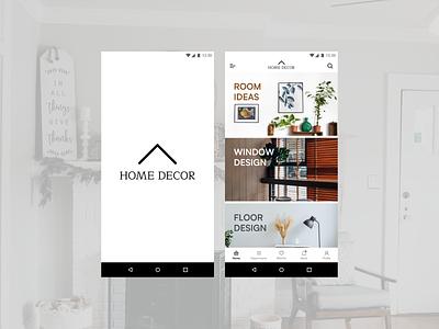 Home decor app UI ui app design