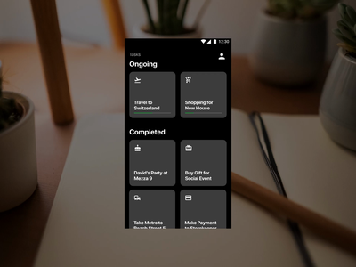 App Interaction - Tasks vector flat eye catching minimal icon ui animation typography design app ux interaction