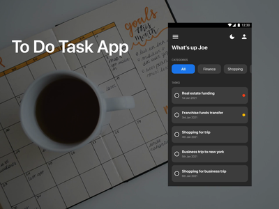 To do Task App Interaction flat minimal interaction animation ui app design