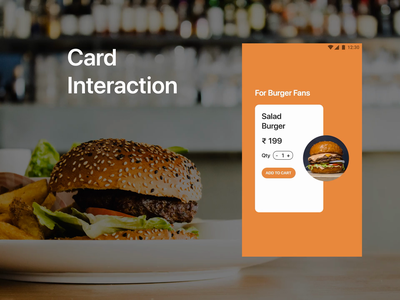 Cards Interaction minimal eye catching animation app design ui interaction