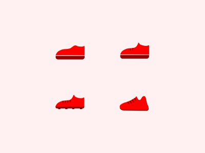 Shoe Icons logo eye catching app ui illustration vector icon design