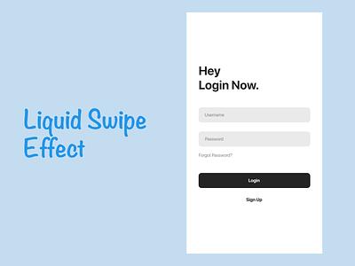 Login/Sign Up typography minimal eye catching effect flat interaction animation app ui design