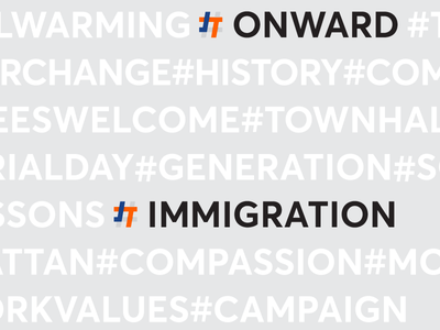 Josh Thompson – Rebound graphicdesign new york hashtag logo banding onward washington campaign identity
