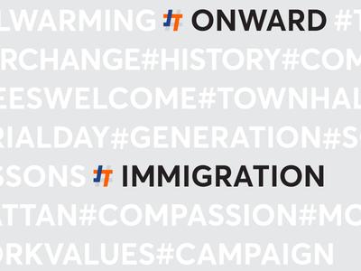 Josh Thompson – Rebound graphicdesign new york hashtag logo banding onward washington campaign identity