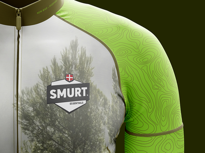 Smurt Bike Apparel green clean bike logo illustration forrest apparel identity branding graphicdesign