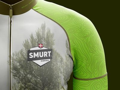 Smurt Bike Apparel green clean bike logo illustration forrest apparel identity branding graphicdesign