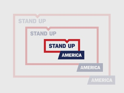 STAND UP AMERICA america blue white red politics expand logo dynamic