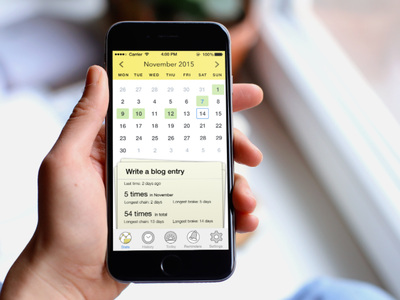 Everyday — app for tracking daily habits & tasks ui design habit tracker statistics calendar tasks ux ui store mobile ios interface app