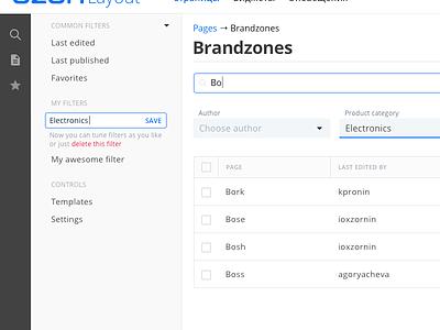 Inline filter edit ux design custom search filter cms admin panel design ui interface