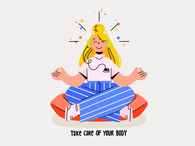 stay home B music soul peace mind pillow happy girl flat illustrations illustrator stayathome stayhome stay uiux ui explore body